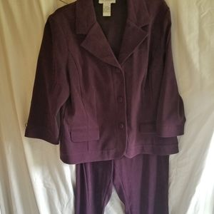 Velveteen pant and jacket size 14 tall sag harbor